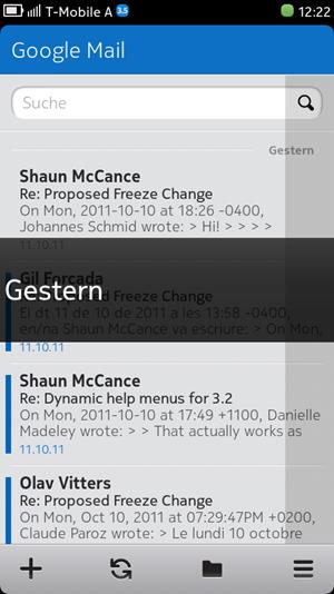 Der Mail-Client von MeeGo kann mit verschiedensten Account-Typen umgehen.