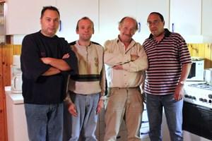 Die Bewohner Willi, Christian, Leo und Paul