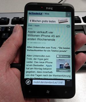 Das HTC Titan ist für große Hände gedacht