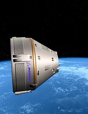 Die Boeing-Kapsel CST-100 soll bis zu sieben Astronauten in den erdnahen Orbit befördern.