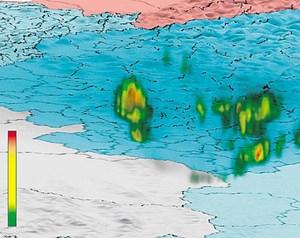 Visualisierung von Unwetterprognosen.