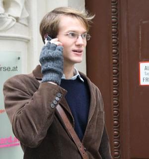 Bekommt zurzeit öfters Anrufe von JournalistInnen: Student Robert Zahrl