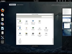 Ein Blick auf den Workspace-Management-Alltag in der GNOME Shell.