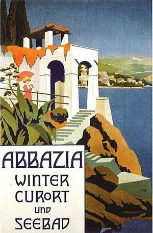 Ein Werbeplakat für Urlaub im Luftkurort Abbazia aus dem Jahr 1911.Foto: Wien Museum/wikipedia.org