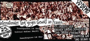Der Flyer zur Demo am 25. November