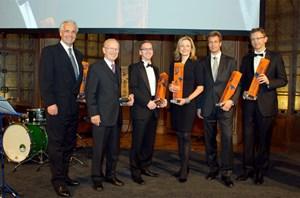 Die Preisträger, von links: Peter Marschall, Peter Rustler, Roland Schmid, Alexandra Ehrenberger, Robert Wegerer, Hans Jörg Ulreich.