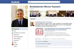 """Derzeit hat Kanzler Werner Faymann auf """"Facebook"""" 4.850 Freunde, nicht alle davon sind """"echte"""" Freunde."""