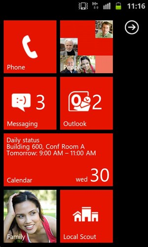 WP7 auf Android-Handys.