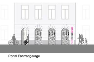 Leerstehende Ladenlokale oder Erdgeschoßwohnungen bieten sich als Fahrradgaragen an.