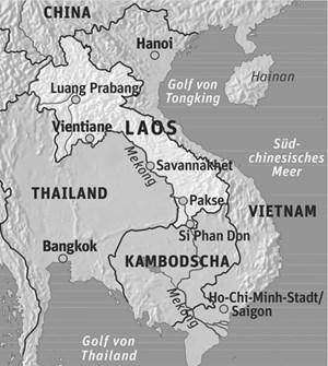 Anreise und UnterkunftHoteltipp: Pons Arena Hotel, Don Det. Der nächste regionale Airport ist Pakse und unterhält Verbindungen nach Sieam Reap (Angkor!), Luang Prabang, Vientiane und HCMC, alle mit Lao Airlines; Visum bei der Einreise. Website der staatlichen Touristeninformation.