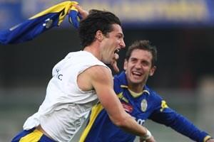 """""""Ich denke, dass ich mir in Italien mit den 30 Toren in der Serie B einen guten Namen gemacht habe und dadurch einen hohen Stellenwert in der Mannschaft habe."""""""