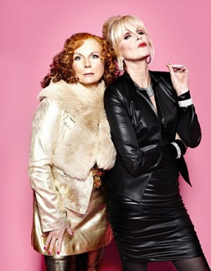 "Schräges Duo: Jennifer Saunders und Joanna Lumley in ""Absolutely Fabulous""."