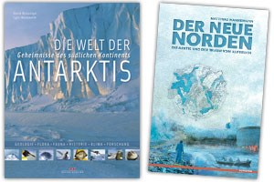 """Literatur:David McGonigal, Lynn Woodworth: """"Die Welt der Arktis. Geheimnisse des südlichen Kontinents"""".Delius-Klasing-Verlag 2011. Aus dem Englischen von Wolfgang Rhiel. ISBN 978-3-7688-3240-3Matthias Hannemann: """"Der neue Norden. Die Arktis und der Traum vom Aufbruch.""""Scoventa-Verlag 2011, ISBN 978-3-942073-02-8"""