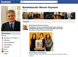 Unlängst bekam ich eine Freundschaftsanfrage auf Facebook - von Bundeskanzler Faymann! Aber ich kann einfach nicht. Ich bin emotional erschöpft und kann eine weitere Enttäuschung nicht ertragen. Das musst du verstehen, Werner!