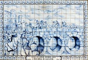 Afonso Henriques - hier auf einer Darstellung bei der Schlacht in Sacavém - sagte sich 1139 beherzt von Spanien los, erklärte sich zum ersten König Portugals und Guimarães zur Hauptstadt des neuen Reiches.Anreise: Zum Beispiel mit dem Flugzeug von Wien nach Porto, etwa mit Lufthansa, www.lufthansa.com, oder Air Berlin, www.airberlin. com. Weiter am besten mit dem Mietwagen, von Porto sind es 57 Kilometer nach Guimarães, ca. 30 Minuten Fahrzeit.Allgemeine Infos zu Portugal: www.visitportugal.comFoto-Credit: Juntas/wikipedia.org
