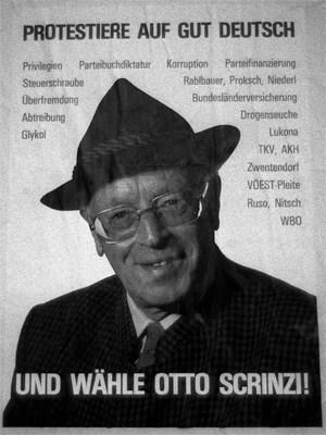 Wahlplakat bei der Bundespräsidentschaftswahl 1986.