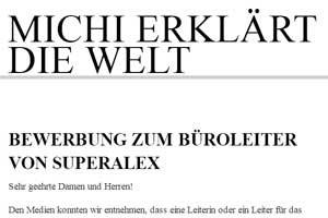 """Ein Duo für den """"Superalex"""": """"Michi erklärt die Welt"""""""