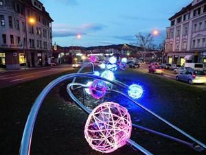 Zum Auftakt des Kulturhauptstadtjahres 2012 wird die Altstadt von Maribor von einer Lichtermauer umgeben sein.