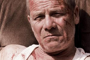 """Mann mit Riesenwut: Peter Mullan als Joseph in """"Tyrannosaur - Eine Liebesgeschichte"""""""
