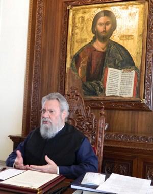 Seit 2006 im Amt mit Einfluss im rechten Lager: Zyperns Erzbischof Chrysostomos II.