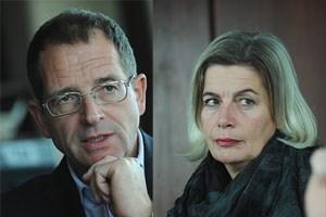 Christoph Klein und Eva Mückstein diskutierten