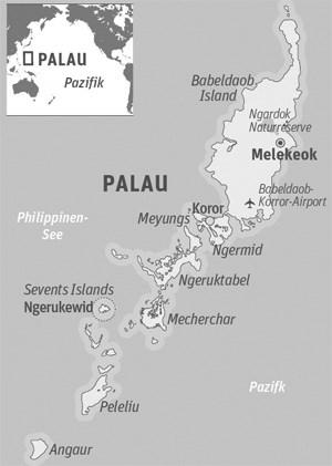 Anreise: China Airlines ist die einzige Fluglinie, die von Wien aus mit nur einem Zwischenstopp via Taipeh nach Palau fliegt. Zwei Flüge pro Woche. Sam's Tours ist die größte Tauchbasis auf Palau. Rundflüge über die 70 Inseln von Ngerukewid bietet Aba Sky an. Weitere Infos zu Palau allgemein.