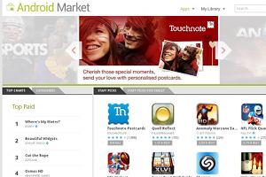 Jetzt mit weniger Schadsoftware (sagt zumindest Google): Der Android Market.