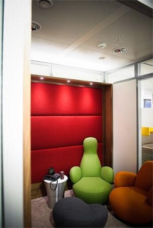 In den 31 Quiet Booths bei Coca-Cola können sich die Mitarbeiter ungestört zurückziehen.