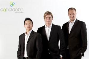 Das Gründertrio: V.l.n.r: Michel Winata, Philipp Kriechbaum und Eduard Ducho.