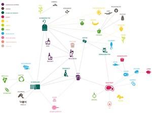 Die Netzwerkgrafik der Universität Indiana.