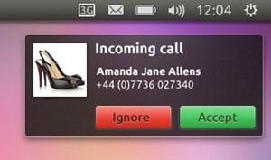Bei eingehenden SMS und Telefonanrufen während der Ubuntu-Nutzung wird eine Benachrichtigung angezeigt, Nutzer können direkt antworten und Gespräche annehmen.