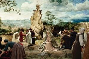 """Pieter Bruegels """"Kreuztragung Christi"""" wird in """"Die Mühle und das Kreuz"""" zum realen Szenario."""