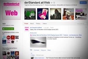 Google+: für den WebStandard keine Geisterstadt.