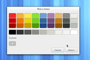 Der neue Farbauswahldialog von GTK+.