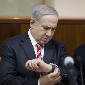 """Benjamin Netanyahu:""""Ich stehe nicht mit einer Stoppuhr da."""""""