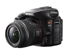 Sony Alpha A57 mit teil-durchsichtigem Spiegel
