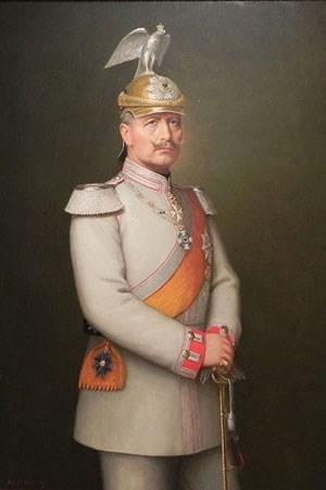 Kaiser Wilhelm II. von Preußen mit Vogel. Sein Ururenkel Philip Kiril wünscht sich wieder eine Monarchie.