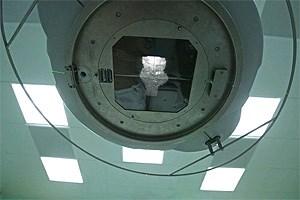 """In der Strahlentherapie, mitten in der """"Krebsmaschine""""."""