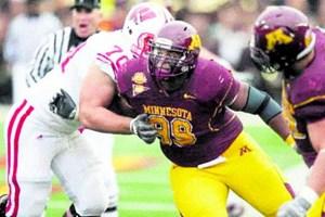 Mitten drin im Kampf um die Spitzenplätze: Die Universität von Minnesota - hier repräsentiert von Defense-Star Garrett Brown, rangiert verlässlich unter den Top 50 der Welt.