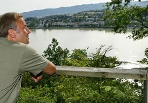 Blick auf Aschach an der Donau in Oberösterreich.Info: Donau Oberösterreich