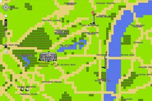 """London in der """"Google Maps Quest""""-Ansicht - ganz im Stil klassischer 8-Bit-Konsolen."""