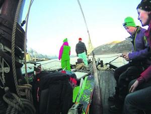 Die Solli war ein Boot der Küstenrettung und kann jetzt für Skitourentrips gemietet werden. Informationen:http://www.solli-adventure.no www.visitnorway.com-> Hier gibt's Fotos zum Text