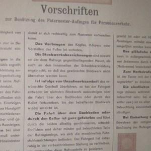 """Vorschriften 1911: """"Die Fahrt über den Dachboden oder durch den Keller ist ganz gefahrlos."""""""