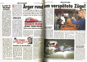 """Mit Werner Faymann """"pünktlich wie die Eisenbahn"""".(Diese Fotos der Inserate stammen von dem Blog dietiwag.org, der auch bei Tirols Landeshauptmann Günther  Platter eine Inseratenaffäre ortet.)"""