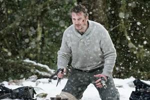"""Alphatier, bereit zum finalen Duell: Liam Neeson im Abenteuerfilm """"The Grey - Unter Wölfen""""."""