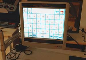 Bildschirm mit Augensteuerung.