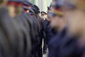 In den eigenen Reihen: Wiener Polizisten bei der Angelobung.