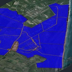 """Das ist das geplante, 368 Megawatt starke, """"Voice of America""""-Solarfeld nahe Thessaloniki."""