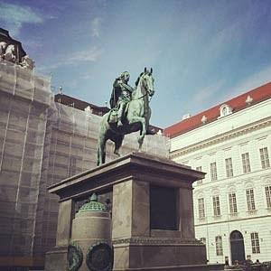Das Reiterstandbild von Kaiser Joseph II.