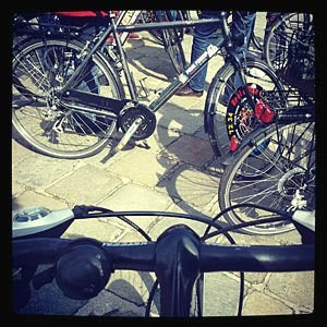 Mit dem Rad ganz enstpannt durch die Innenstadt: Fast wie Urlaub.